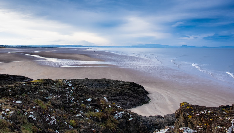 Aberlady beach earlier today, looking over to Edinburgh.