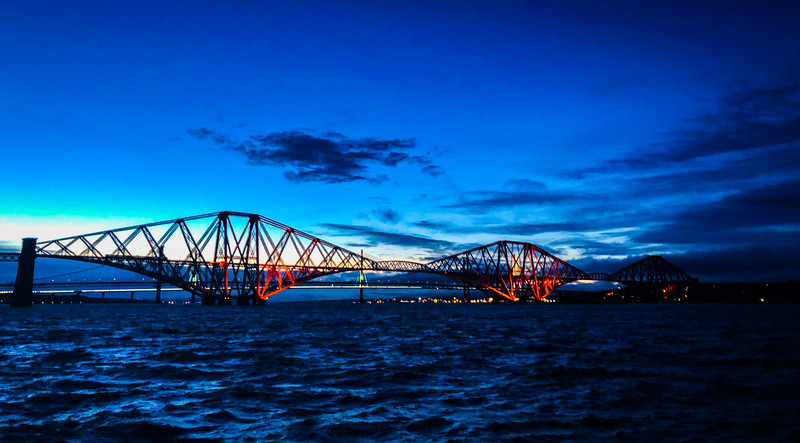 3 bridges on the Firth of Forth - very old, old, and new.