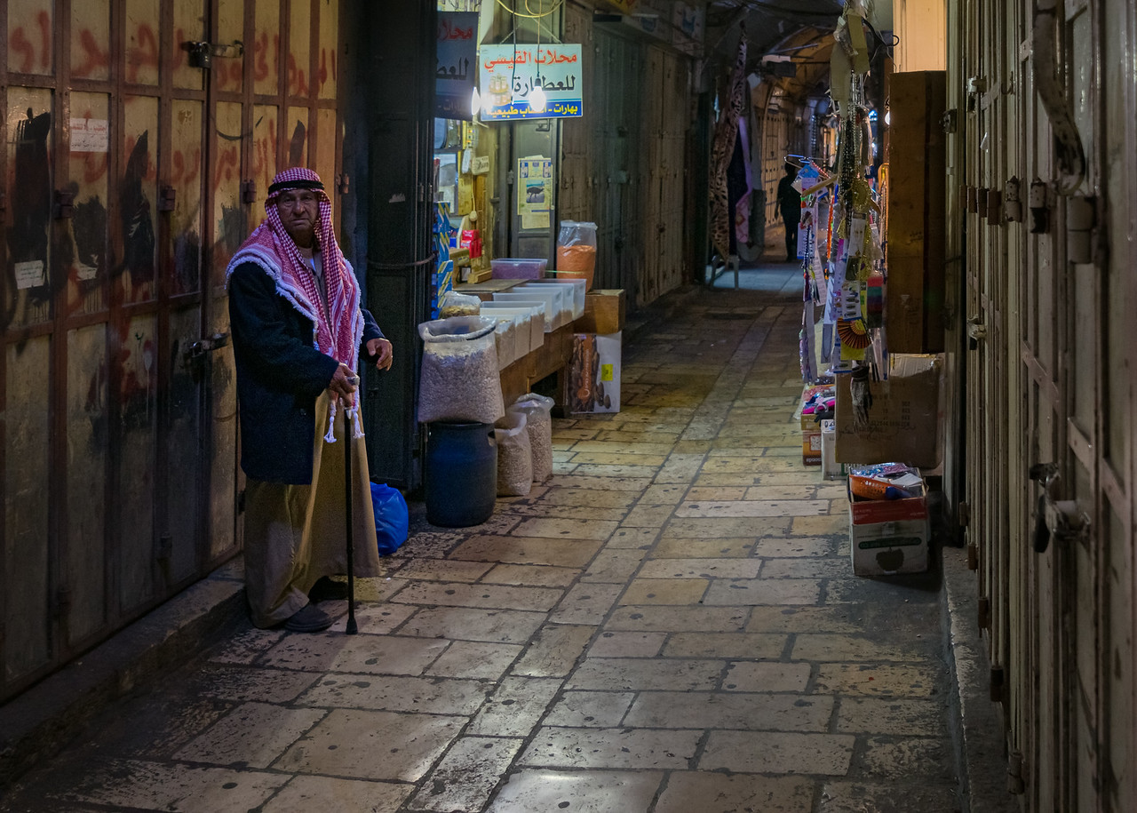 Vendor in the streets of Jerusalem Israel - Intentionally Lost and Kevin Wenning #intentionallylost