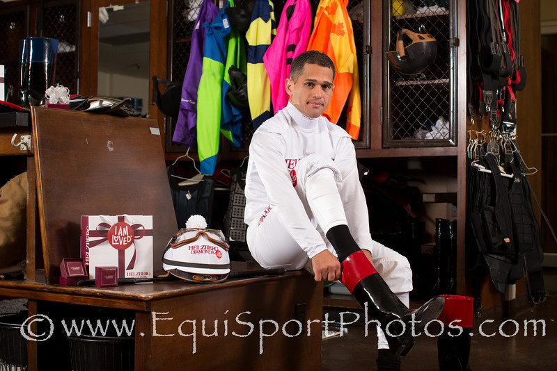Javier Castellano at Keeneland for Helzberg Diamonds photo shoot, 4.25.2012.