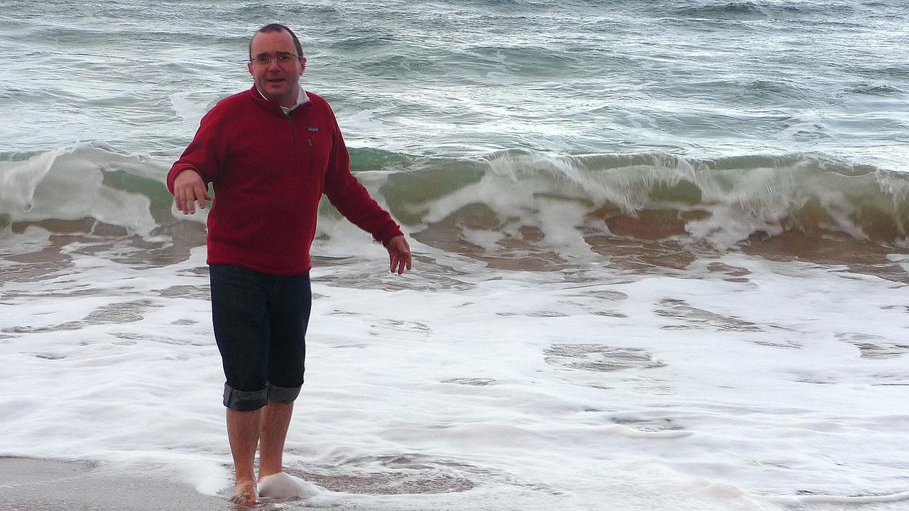 Taking a bath,,,the scottish way