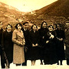 Заліщики. 1935-36. зліва: Ірена КОВАЛЬЧУК - сьома, Маріка КВАЛЬЧУК - шоста, Олена КОВАЛЬЧУК - сьома,