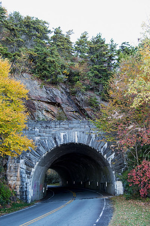 Blue Ridge Parkway, Milepost 349.9, Rough Ridge Tunnel