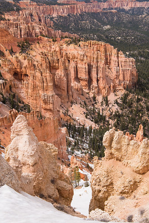 Hoodoos and snow at Rainbow Point