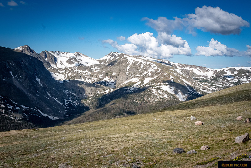 Snow-capped Mountains in Rocky Mountain National Park