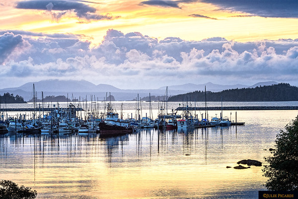 Sunset in the harbor of Sitka, AK