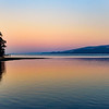 Watercolor Sunset on Tomales Bay, CA