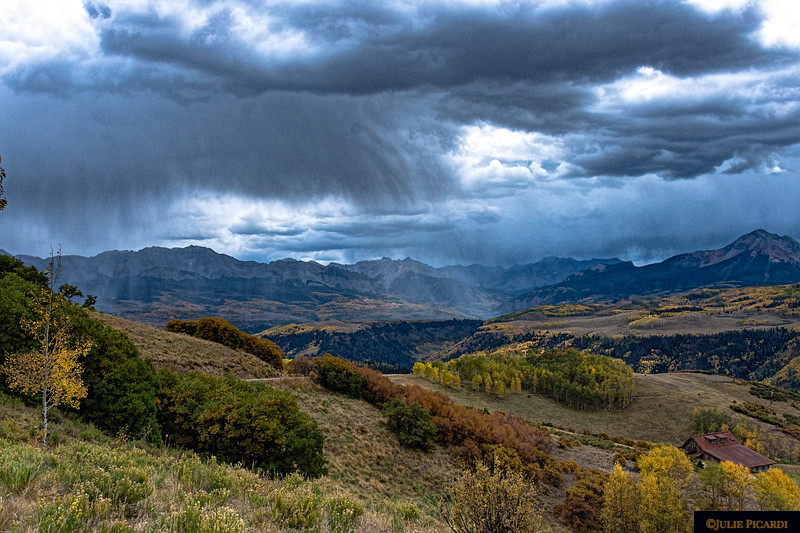 Cloudburst over the San Juan Mountains