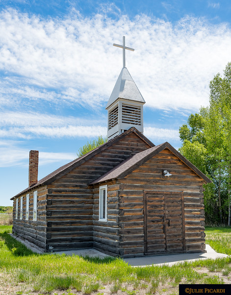 Driving to Jackson Hole, we passed by this little log church in the tiny community of Eden, CO.