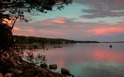 October sunset on Harpswell, Maine