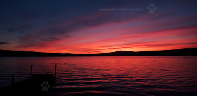 Sundown at Shin Pond