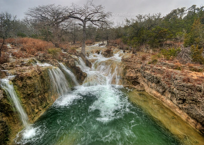Falls on Curry Creek, a branch of the Guadalupe River (HDR image)