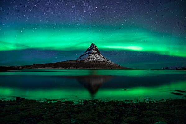 Northern Lights Over Kirkjufell, Iceland