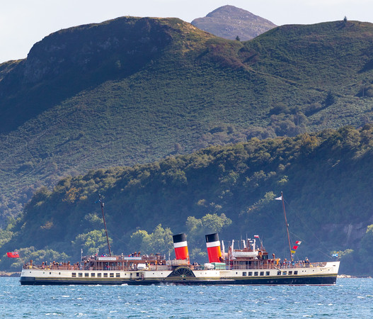The PS Waverley in front of Corriegills and Holy Isle, last Thursday.