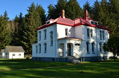 Lighthouse keepers residence at North Head Lighthouse, Cape Disappointment State Park.