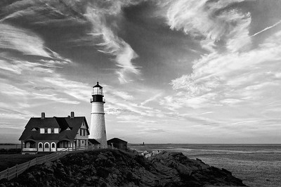Portland Head Lighthouse, Cape Elizabeth, Maine.