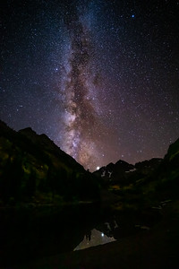 Maroon Peaks and Milky Way