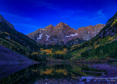 Blue Hour over Maroon Peaks