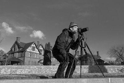 Marshall at work during a Winter Photo Workshop