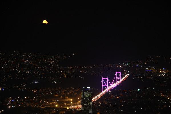 Bosphorus and Moon