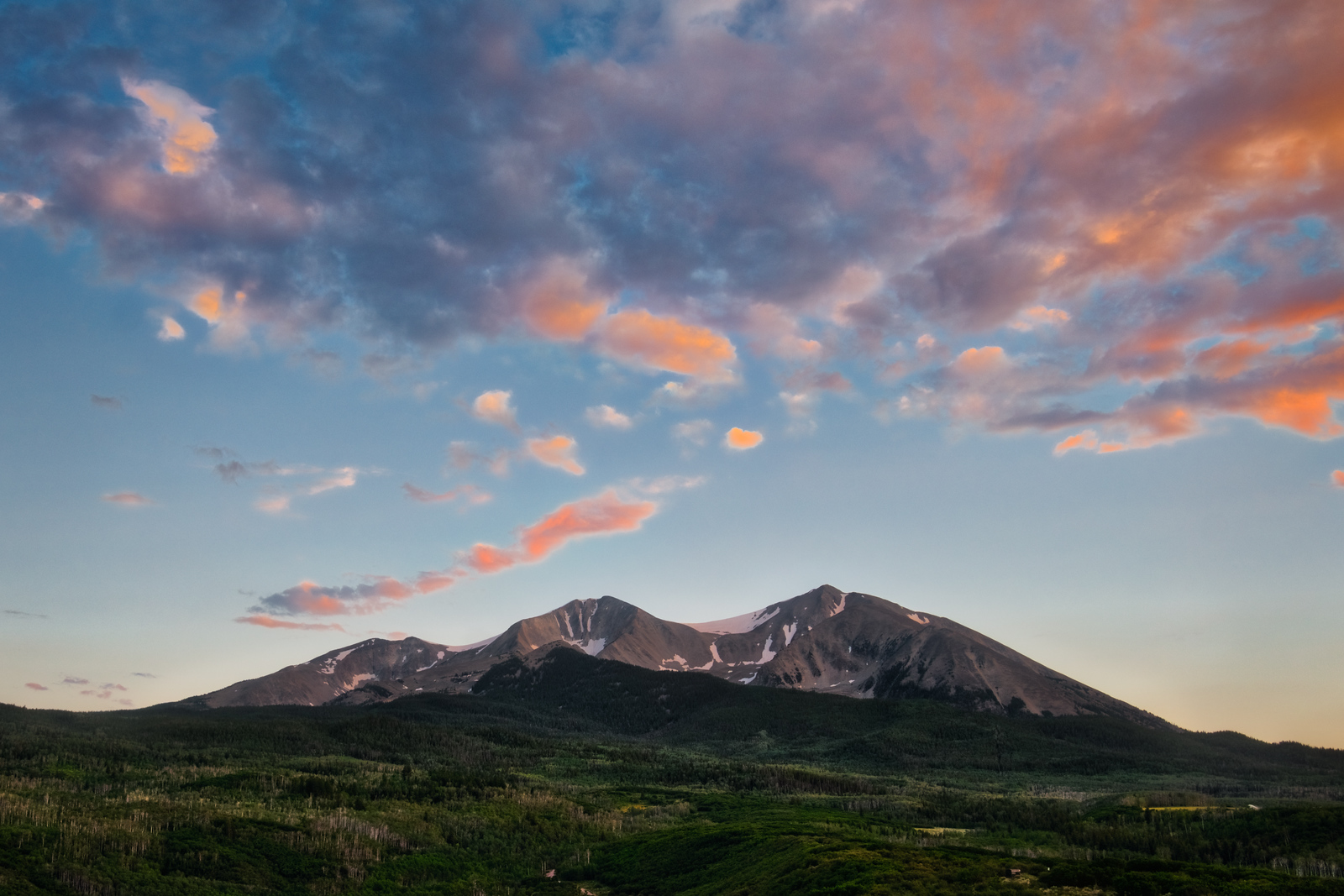 Sunset over Mount Sopris in Carbondale Colorado with Intentionally Lost and Kevin Wenning #intentionallylost