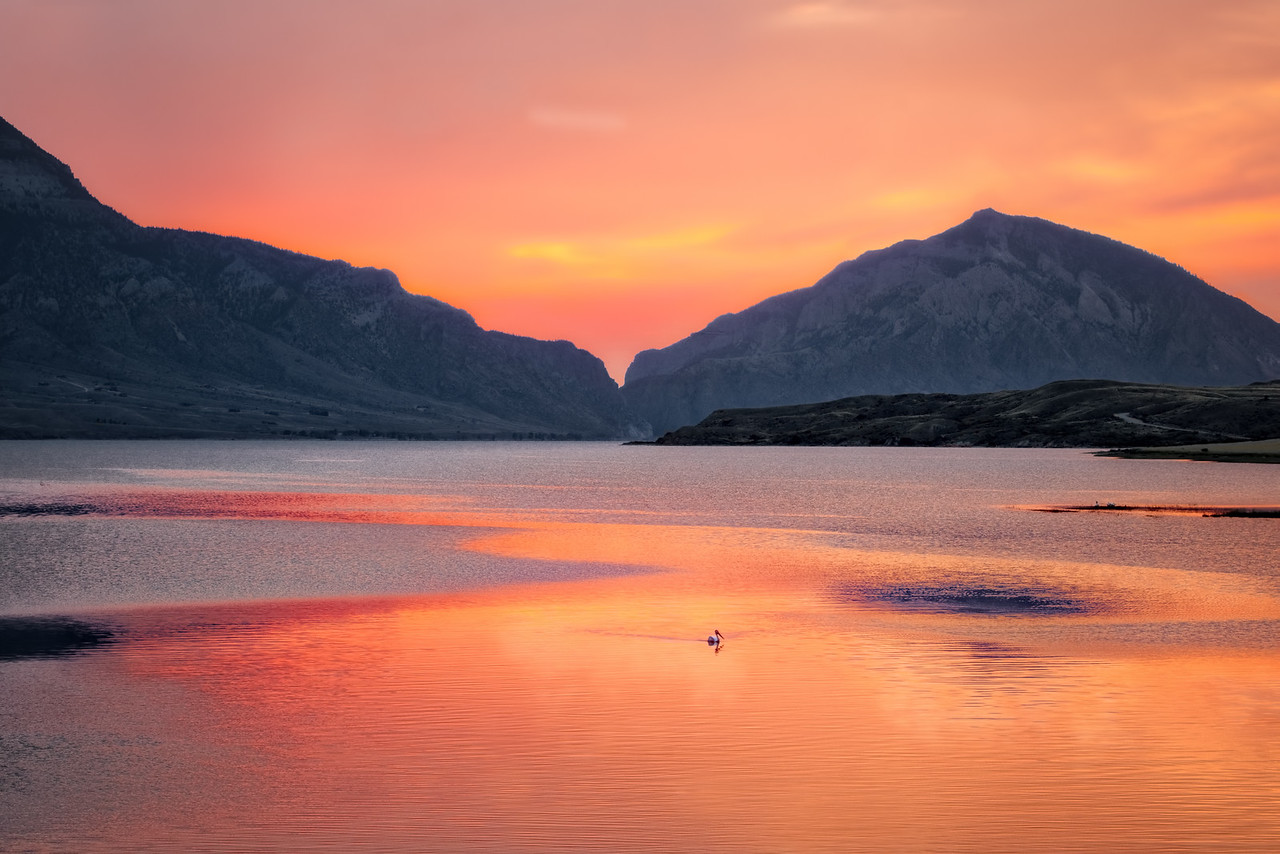 Sunrise over Buffalo Bill Reservoir with Intentionally Lost and Kevin Wenning #intentionallylost