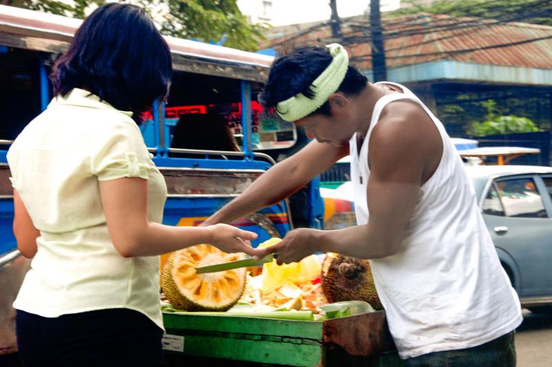 Jackfruit stand