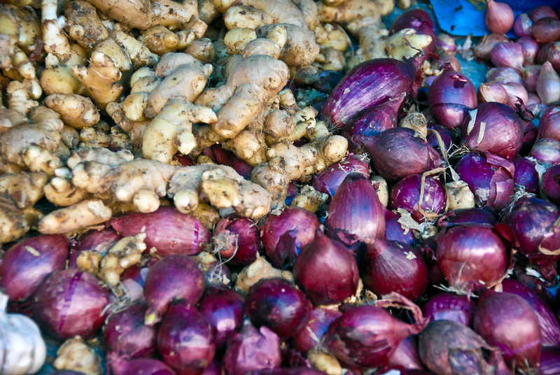 Ginger and Red Onions