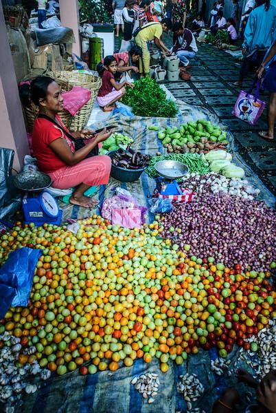 Happy Vegetable Vendor