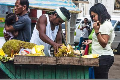 Jack Fruit Vendor, Cebu City, Philippines