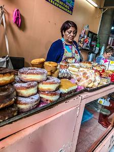 A small bakery at the Abelardo Rodriguez Market in Mexico City