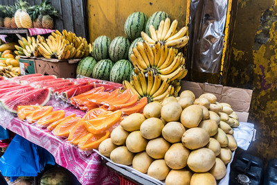 Street Fruit Stand in Manila's Chinatown