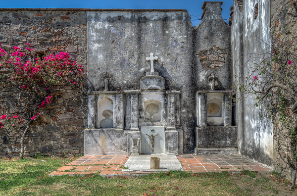 Burial grounds at the Church of San Francisco Acatepec