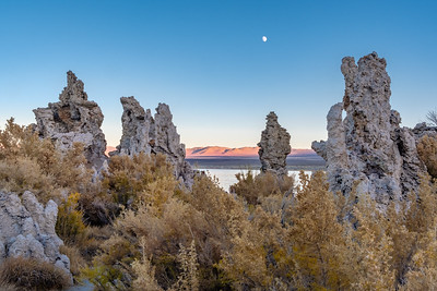 Mono Lake at sunset.