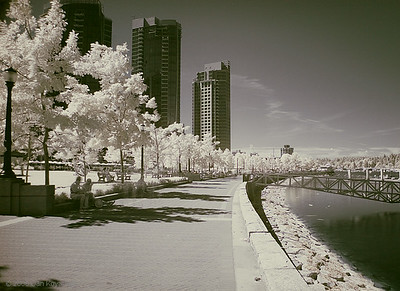 Coal Harbour, Vancouver Canon 5D, Hoya R72 IR filter