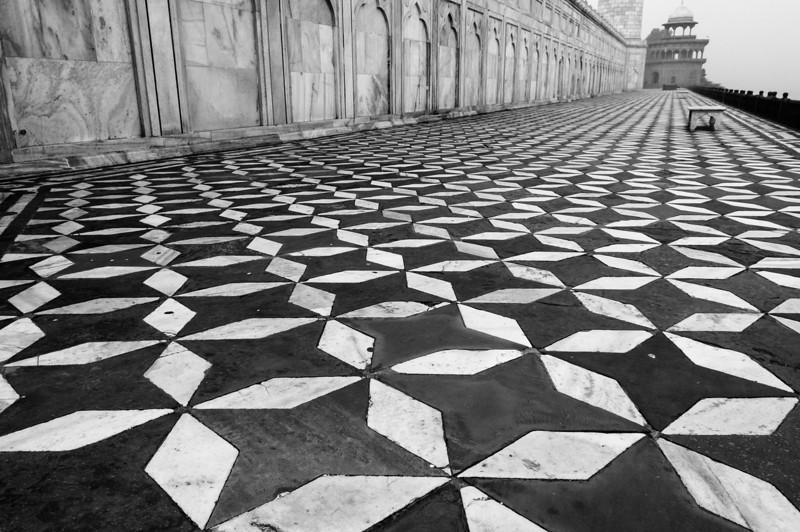 Taj Mahal pavement