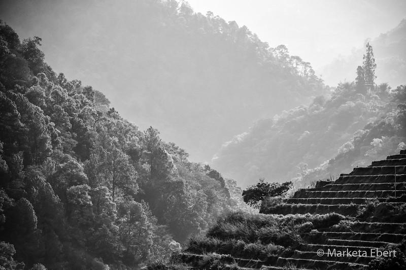 Bhutan mountain scene