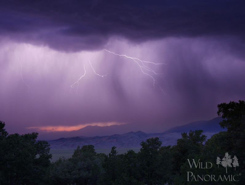 Lightning storm of the Great Sand Dunes National Park