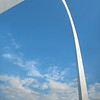 Vertical panoramic of the St Louis Arch.