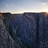 Sunset over The Painted Wall, Black Canyon of the Gunnison