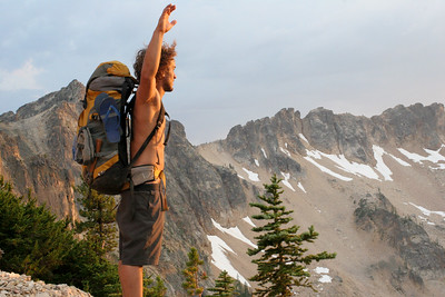Marcelo in the North Cascades on the Pacific Crest Trail