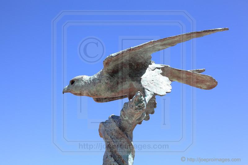 Bird Sculpture at Chios Basin Visitor Center