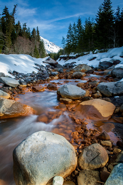 Kautz Creek running off Mt. Ranier.