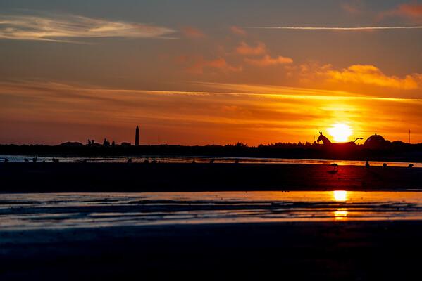 Sunset at Blåvand