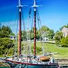 Another Old, Beautiful, Restored Schooner at Camden Harbor