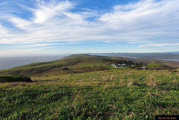 Overview of Tomales Bluff in Point Reyes National Seashore.