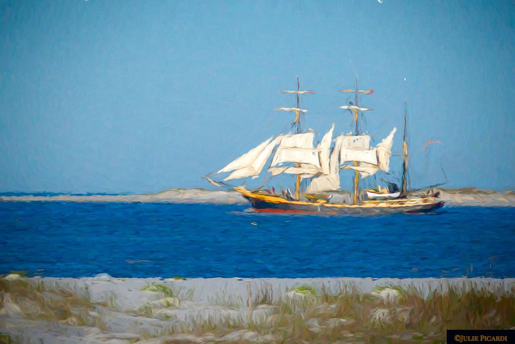 Tall Ship Barque Picton Castle Impressionistic 2