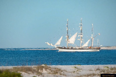 Tall Ship Elissa Impressionistic 13