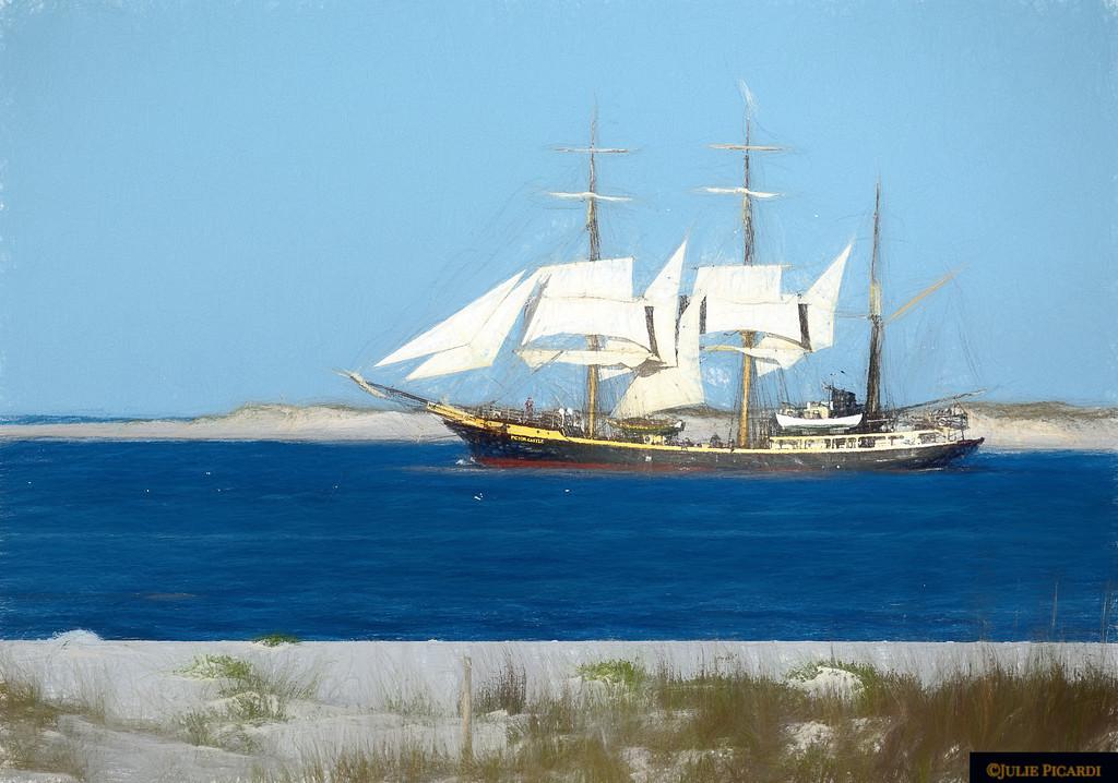 Tall Ship Barque Picton Castle Impressionistic