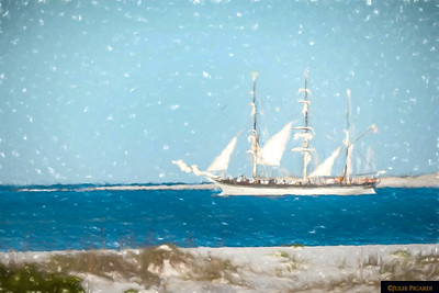 Tall Ship Elissa Impressionistic 11